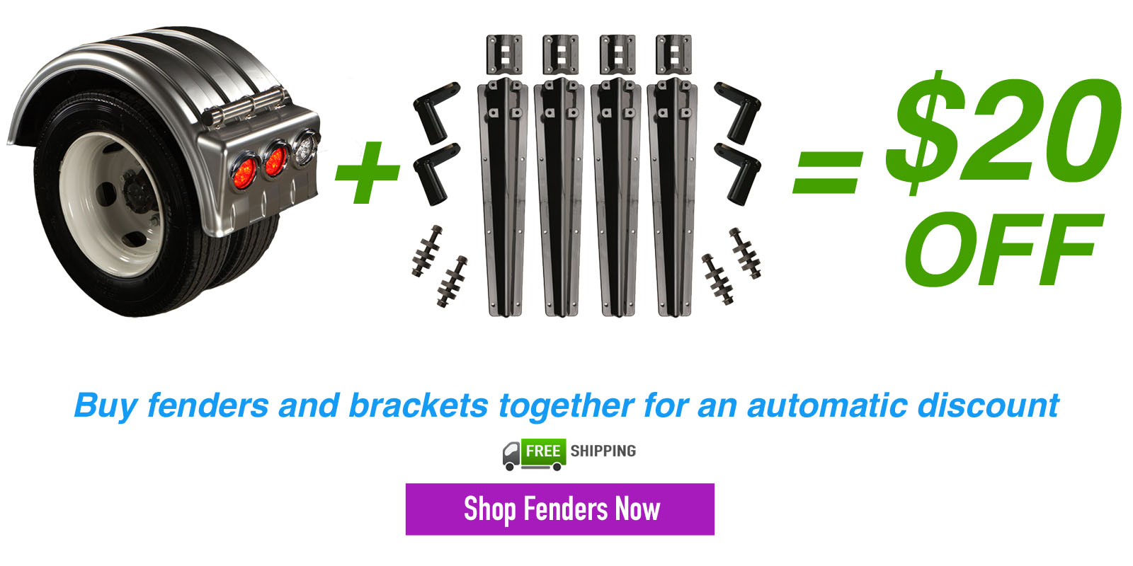 $20 off Fender and Bracket Combo