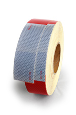 Conspicuity Tape, 6 in. Alternating Red and White By the Foot