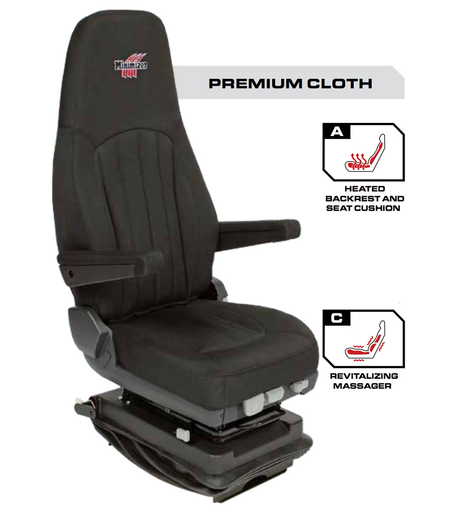 Minimizer Truck Seat - Premium Cloth with Heat and Massage