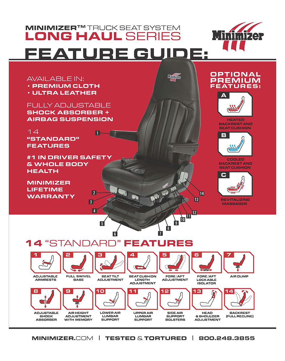 Minimizer Truck Seat Ultra Leather With Heat And Cool