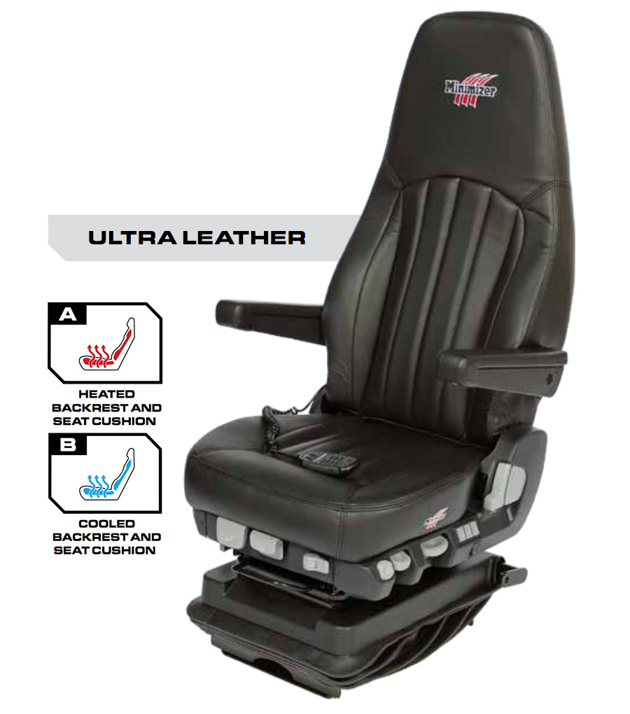 Minimizer Truck Seat - Ultra Leather with Heat and Cool