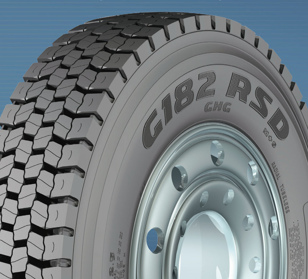 Goodyear Truck Tire G182 RSD-11R24.5 All Position