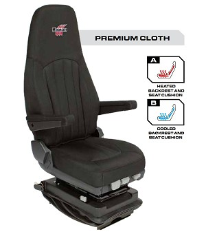 Minimizer Truck Seat - Premium Cloth with Heat and Cool