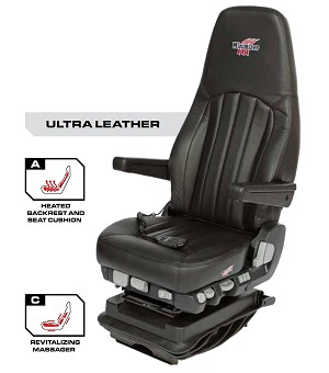 Minimizer Truck Seat - Ultra Leather with Heat and Massage